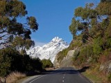 On the road to Glenorchy township at the head of the lake